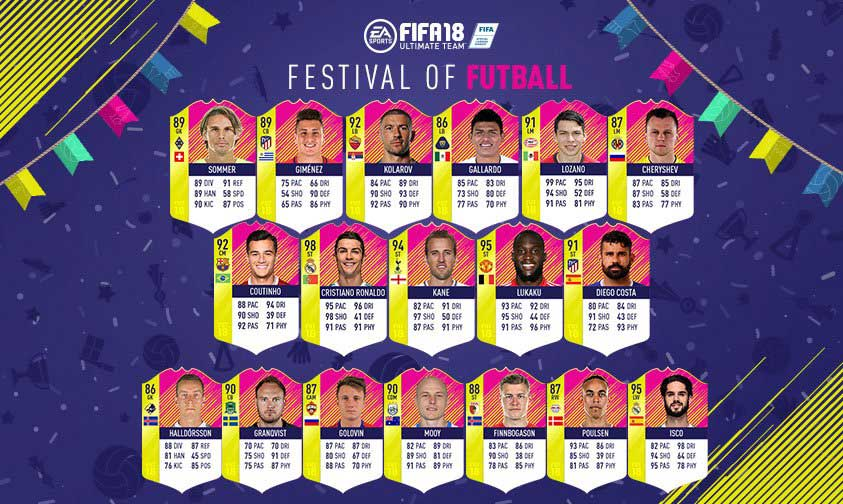 Team Of The Matchday S Festival Of Futball Super Team Is Here