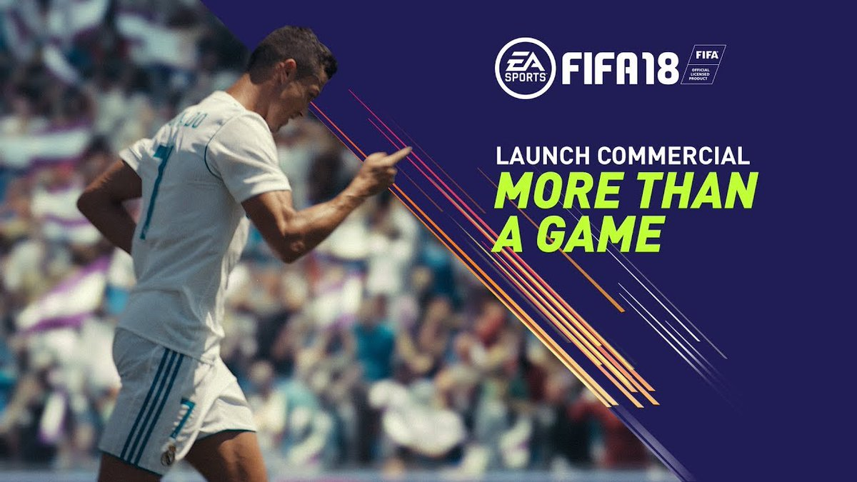 FIFA 18 Launch Commercial features Ronaldo, James Harden and