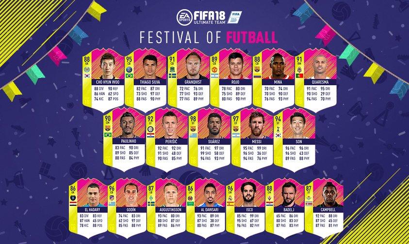 FUT 18 Team of the Matchday 3 w/ 98 Suarez, 94 ST Son