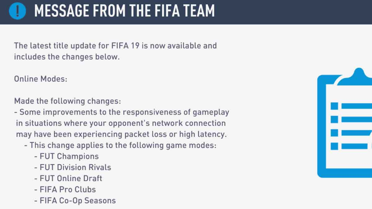 FIFA 19 Patch 6 aims to deal with 'server' issues/delay - Futhead News