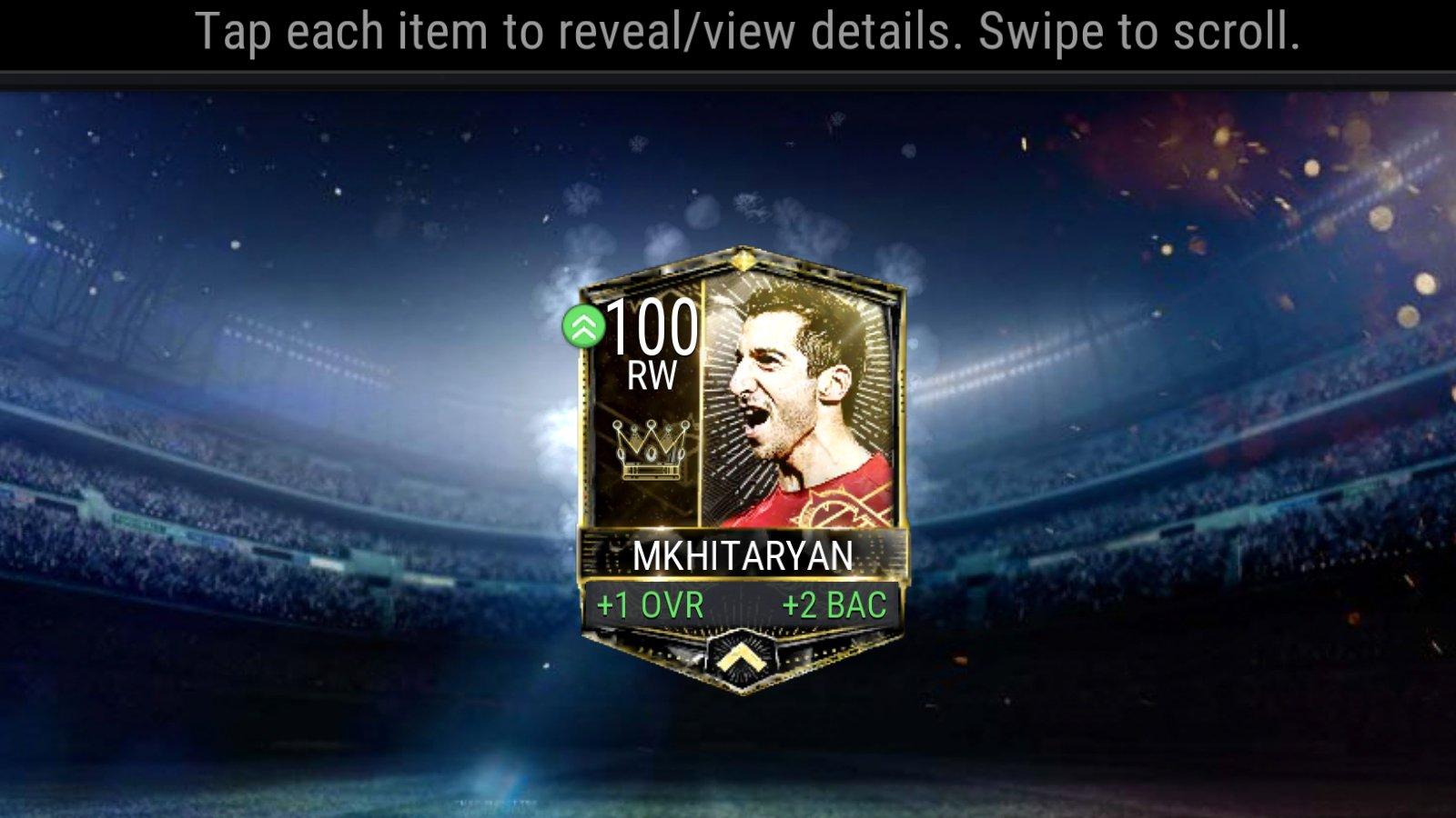 FIFA Mobile Pre Season 100 Overall Henrikh Mkhitaryan Review
